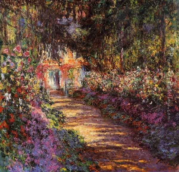 The Flowered Garden Oil Painting - Claude Oscar Monet