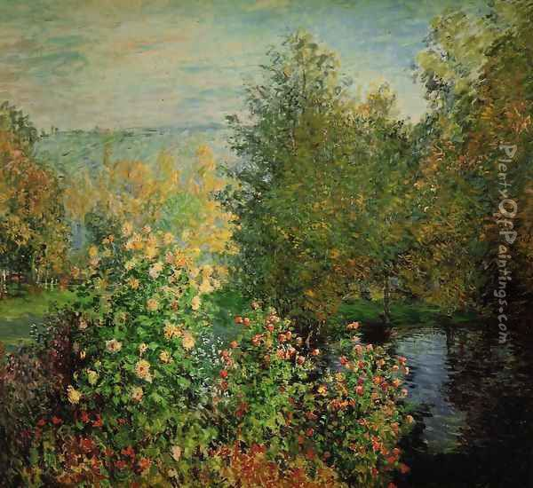 The Hoschedes Garden At Montgeron Oil Painting - Claude Oscar Monet