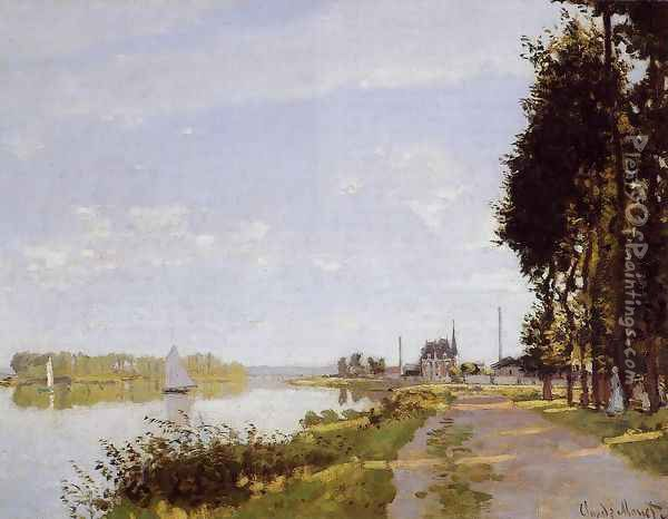 The Promenade At Argenteuil2 Oil Painting - Claude Oscar Monet