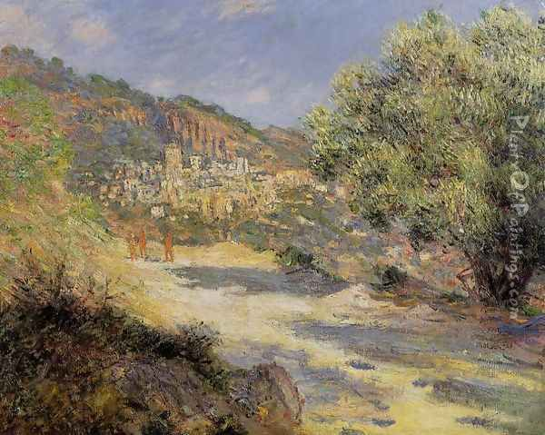 The Road To Monte Carlo Oil Painting - Claude Oscar Monet