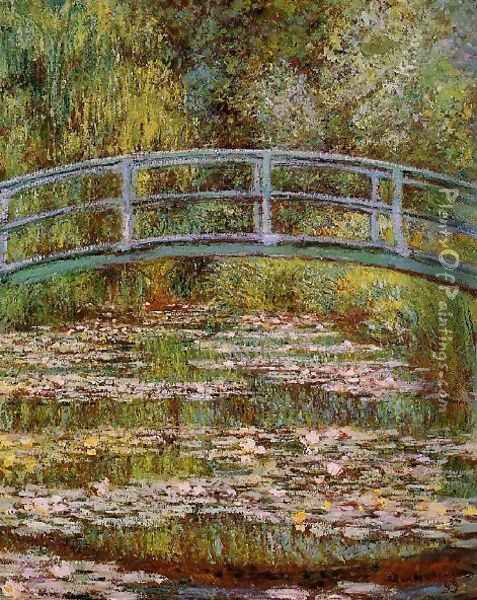 The Water Lily Pond Aka Japanese Bridge Oil Painting - Claude Oscar Monet