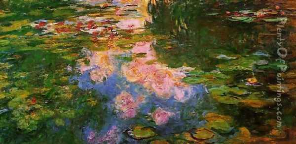 The Water-Lily Pond XI Oil Painting - Claude Oscar Monet