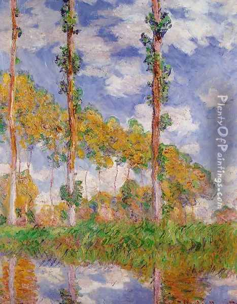Three Trees In Summer Oil Painting - Claude Oscar Monet