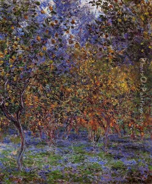Under The Lemon Trees Oil Painting - Claude Oscar Monet