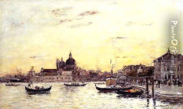 Venice The Mole at the Entrance to the Grand Canal and the Salute 1895 Oil Painting - Claude Oscar Monet