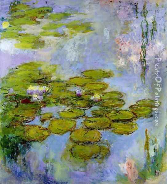 Water-Lilies6 1916-1919 Oil Painting - Claude Oscar Monet