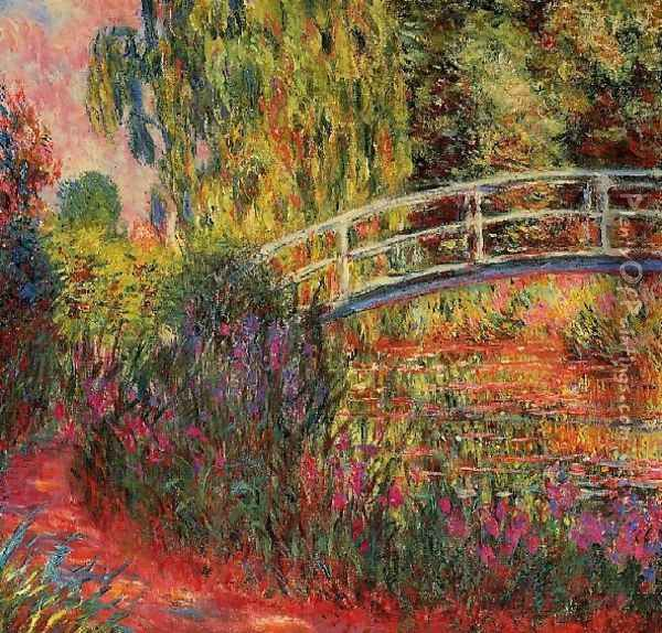 Water Lily Pond Water Irises Oil Painting - Claude Oscar Monet