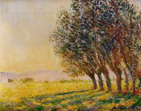 Willows At Sunset Oil Painting - Claude Oscar Monet