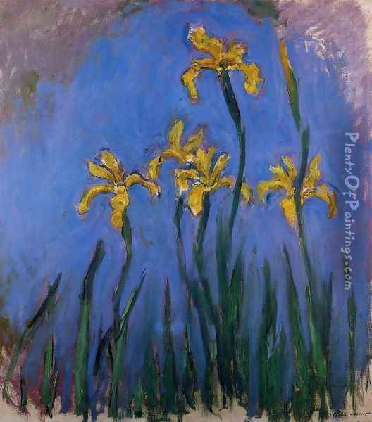 Yellow Irises2 Oil Painting - Claude Oscar Monet