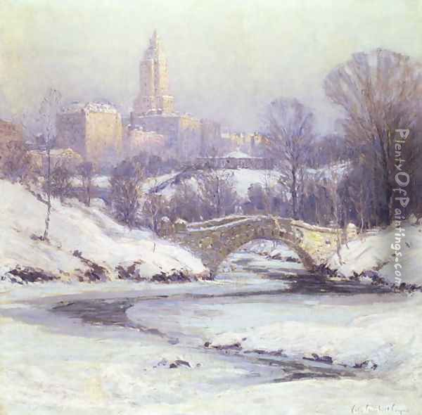 Central Park Oil Painting - Colin Campbell Cooper