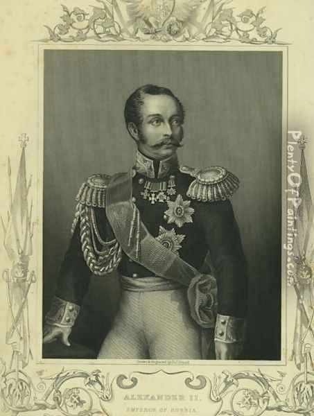 Alexander II 1818-81 of Russia Oil Painting - D.J. Pound