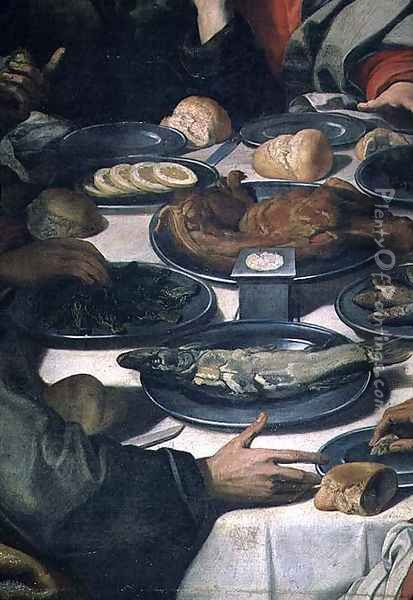 The Last Supper, detail of the food (detail) Oil Painting - Daniele Crespi