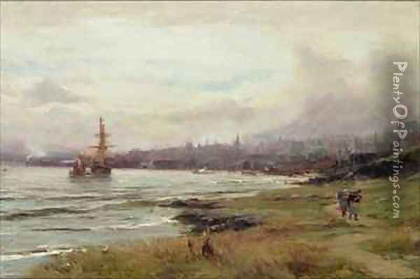 Dundee from the East Oil Painting - David Farquharson
