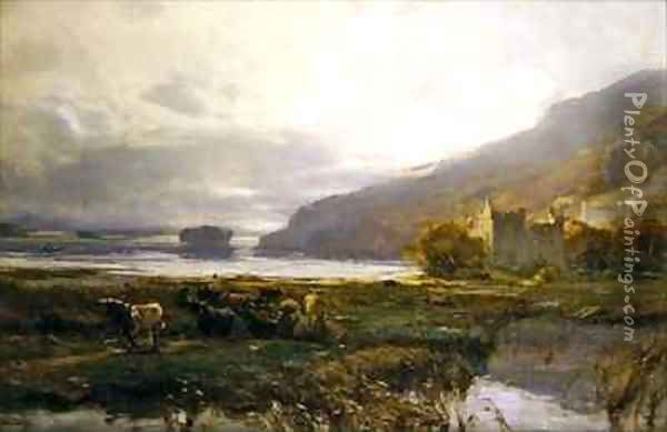 Kilchurn Castle Lock Awe Oil Painting - David Farquharson
