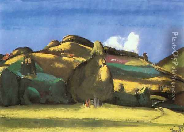 Sunny Landscape 1933 Oil Painting - David Jandi