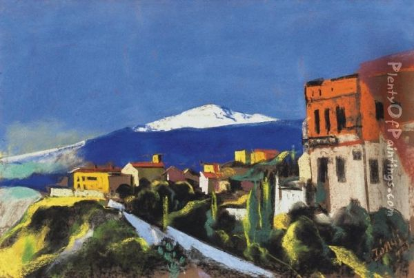Taormina Oil Painting - David Jandi