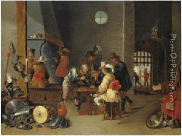 La Guardia Oil Painting - David The Younger Teniers