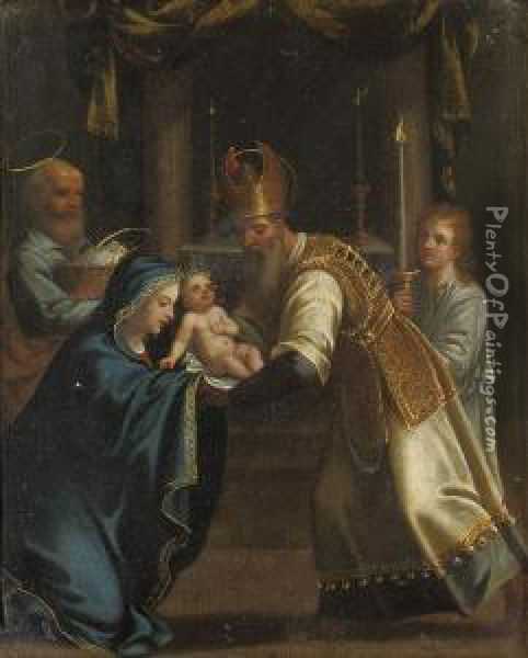 The Presentation In The Temple Oil Painting - Denys Fiammingo Calvaert