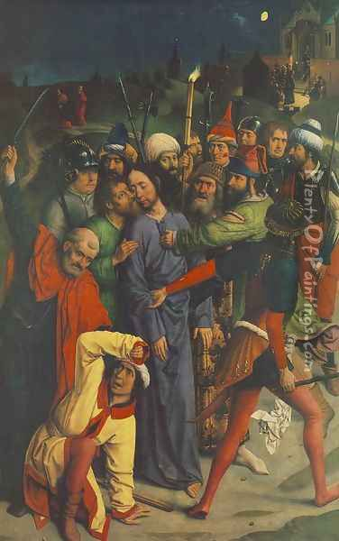 The Capture of Christ Oil Painting - Dieric the Elder Bouts