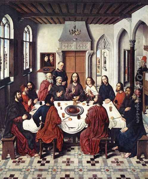 The Last Supper 1464-67 Oil Painting - Dieric the Elder Bouts