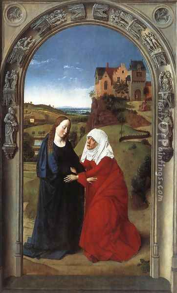 The Visitation c. 1445 Oil Painting - Dieric the Elder Bouts