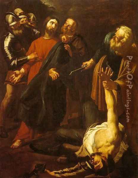 The Capture of Christ with the Malchus Episode Oil Painting - Dirck Van Baburen
