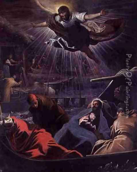 The Dream of St. Mark Oil Painting - Domenico Tintoretto