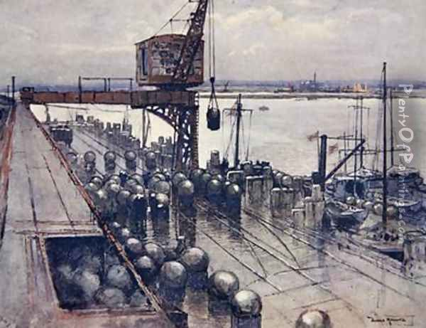 An Incipient Minefield illustration from The Naval Front by Gordon S Maxwell 1920 Oil Painting - Donald Maxwell