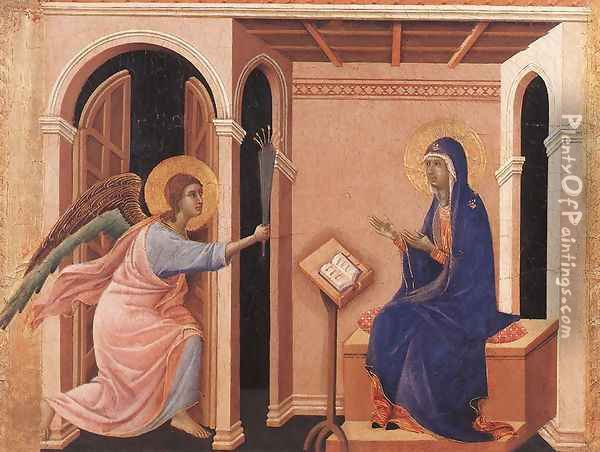 Announcement of Death to the Virgin 1308-11 Oil Painting - Duccio Di Buoninsegna