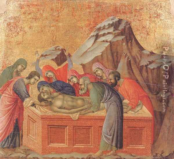 Burial of Christ 1308-11 Oil Painting - Duccio Di Buoninsegna