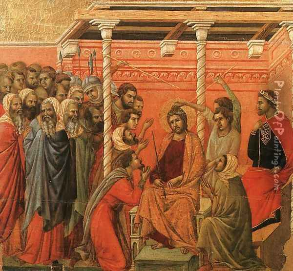 Crown of Thorns 1308-11 Oil Painting - Duccio Di Buoninsegna