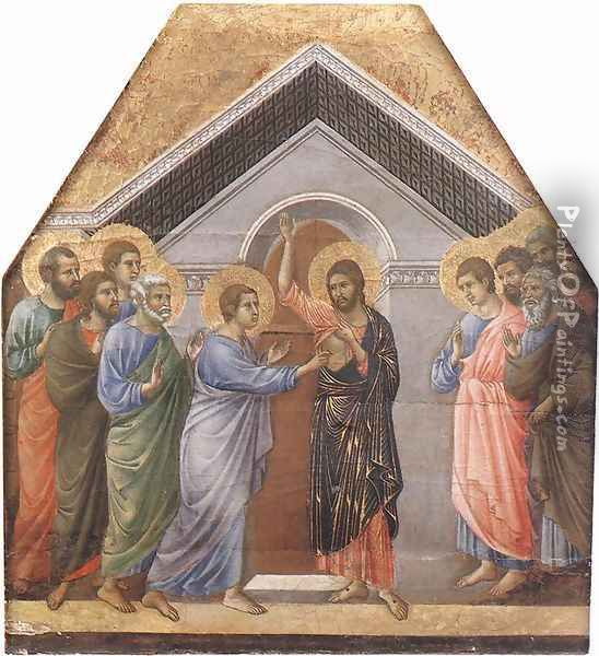 Doubting Thomas 1308-11 Oil Painting - Duccio Di Buoninsegna