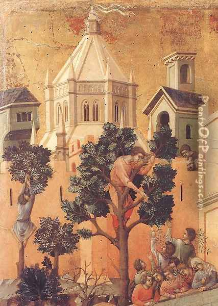 Entry into Jerusalem (detail) 1308-11 Oil Painting - Duccio Di Buoninsegna
