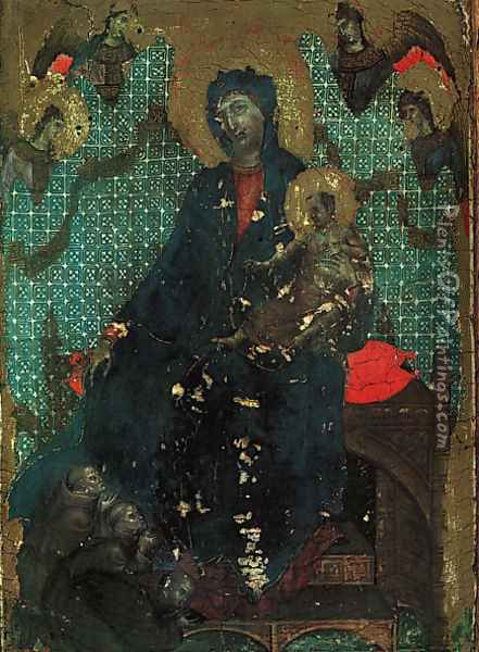 The Madonna of the Franciscans 1287-88 Oil Painting - Duccio Di Buoninsegna