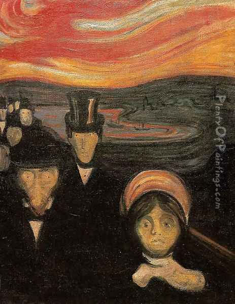 Anxiety Oil Painting - Edvard Munch
