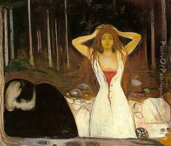 Ashes Oil Painting - Edvard Munch