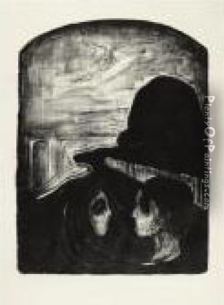 Attraction I (w. 75, Sch. 65) Oil Painting - Edvard Munch