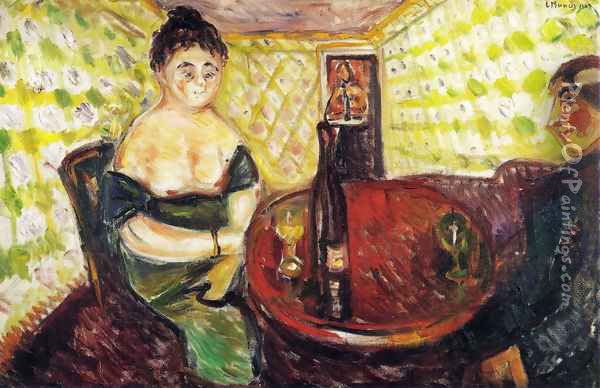 Brothel Scene. For sweet Madel. From the series The Green Room Oil Painting - Edvard Munch
