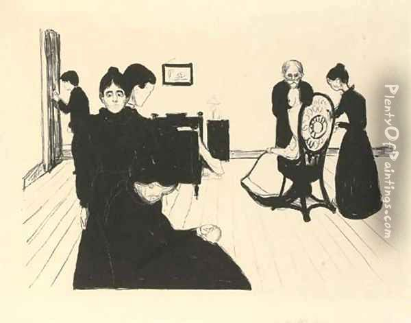 Death in the Sickroom Oil Painting - Edvard Munch
