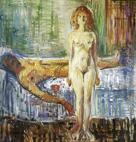 Death of Marat II Oil Painting - Edvard Munch