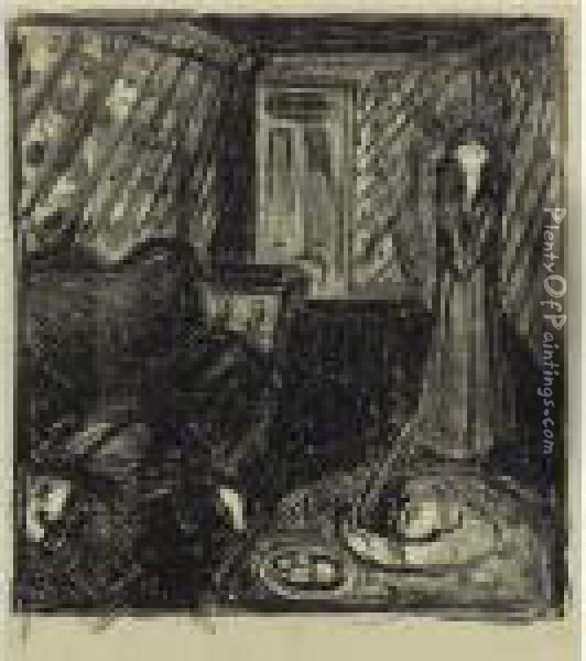 Der Mord (w. 705) Oil Painting - Edvard Munch