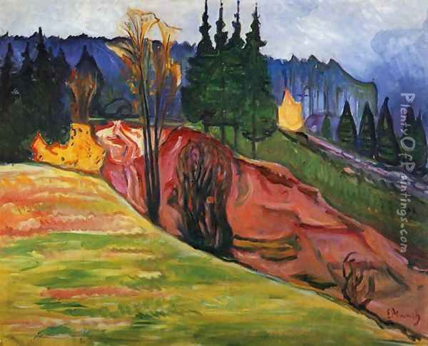 From Thuringewald Oil Painting - Edvard Munch