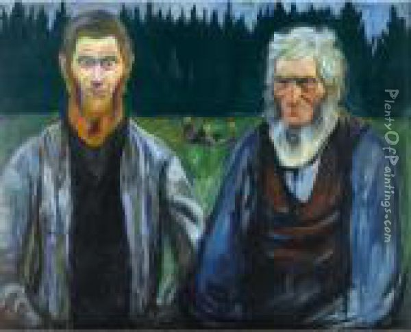 Generations Oil Painting - Edvard Munch