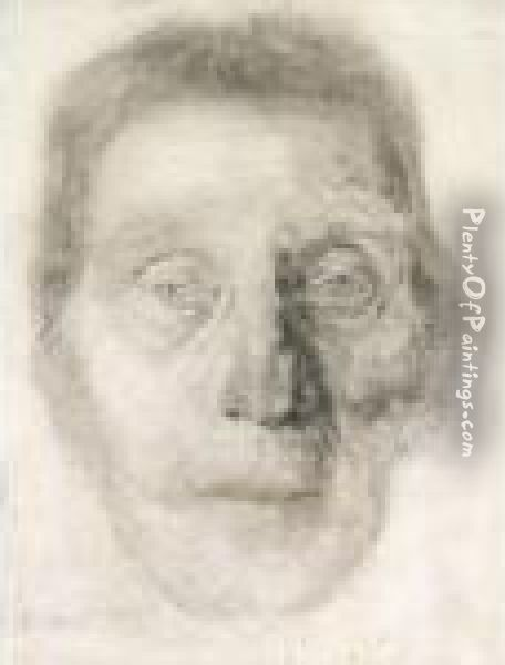 Head Of An Old Woman Oil Painting - Edvard Munch
