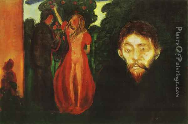 Jealousy 1895 Oil Painting - Edvard Munch