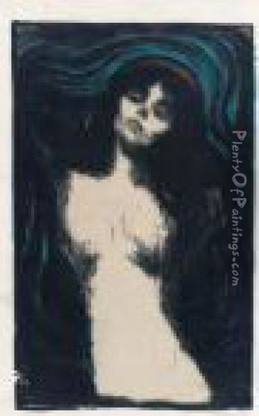 Madonna (w. 39; S. 33 A I B 2) Oil Painting - Edvard Munch