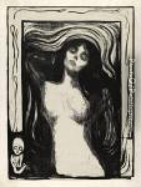 Madonna - Liebendes Weib Oil Painting - Edvard Munch