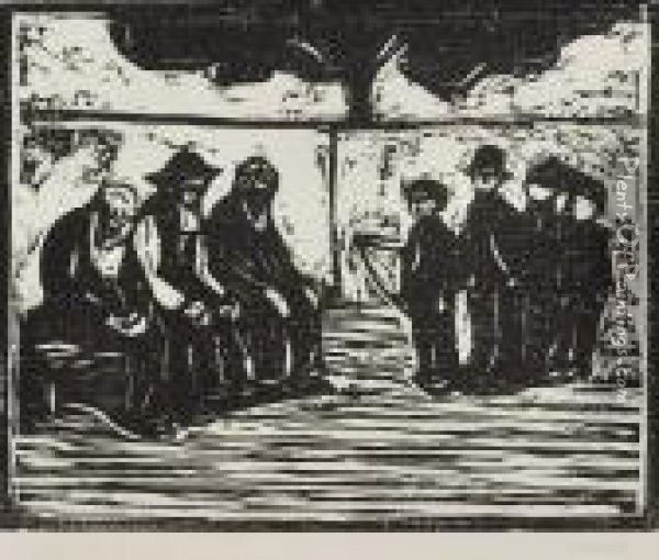 Old Men And Boys Oil Painting - Edvard Munch