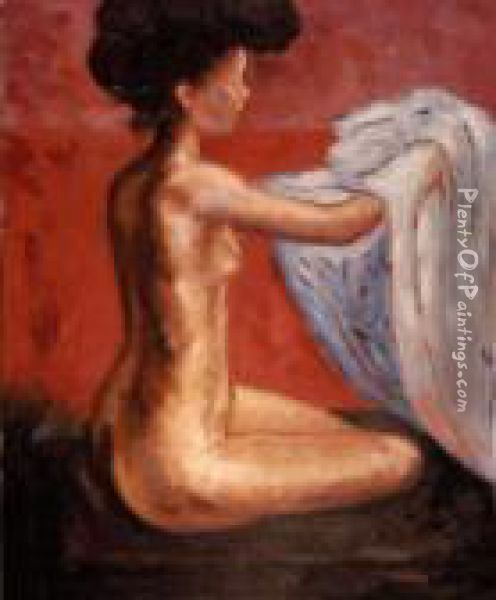 Paris Nude Oil Painting - Edvard Munch