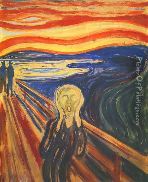 Scream Oil Painting - Edvard Munch